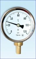 Термометры биметаллические ТБ с радиальным штуцером
